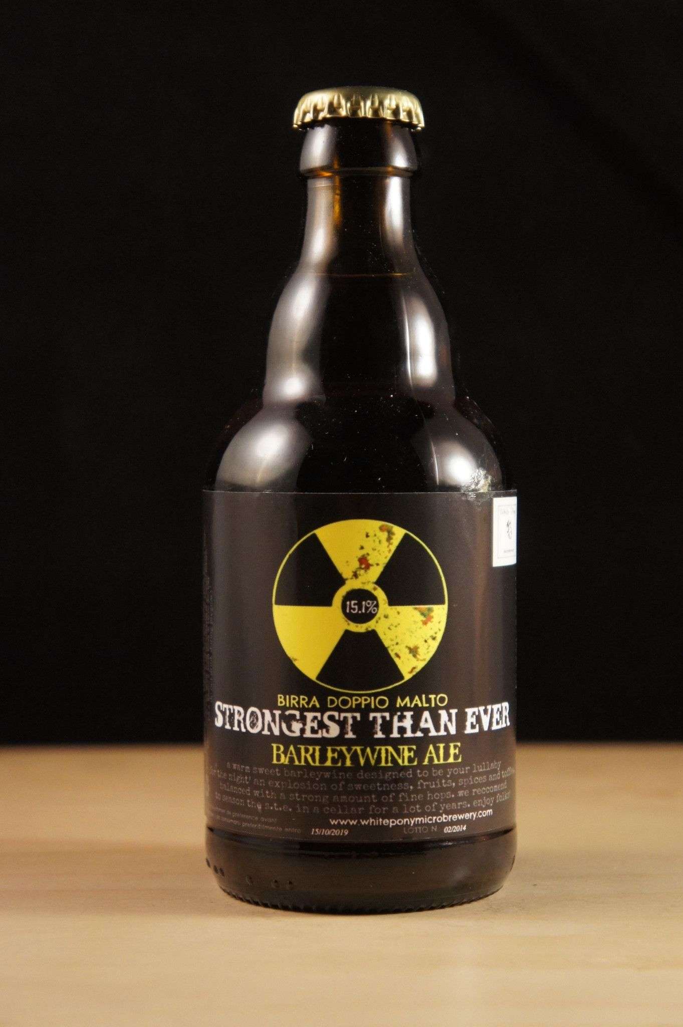 Strongest Than Ever  - 0,33 liter fra WhitePonyMicrobrewery